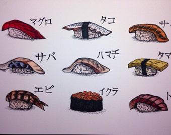 9 piece Nigiri Sushi set