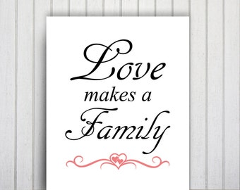 Typography Poster Print, Love Printable Quote Art, Family Wall Decor, Love Poster, Love Quote Print, Family Wall Art, Calligraphy Art