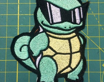 """Squirtle Squad Pokemon Inspired 4"""" iron-on patch"""