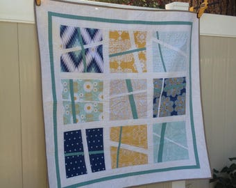 Cali Days, Modern quilt, throw, Wall hanging