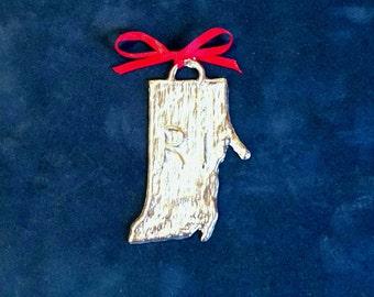 Pewter Rhode Island Ornament (RI)