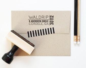 Return Address Stamp Modern Personalized Stamp for Men Custom Rubber Stamp Masculine Address Label Change of Address Stamp Housewarming Gift