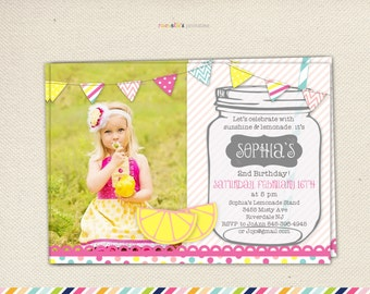 Lemonade Stand Party Invitation Printable