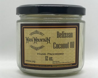Hand Processed Coconut oil from the jungles of Belize