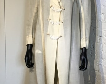 Original Fine Linen Summer Coat, Victorian, Edwardian, Circa 1900