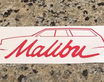 Malibu Wagon Outline Decal