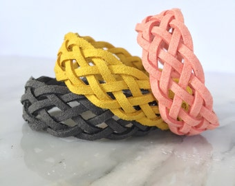 6 Strand Braided Essential Oil Diffuser Bracelet - faux suede