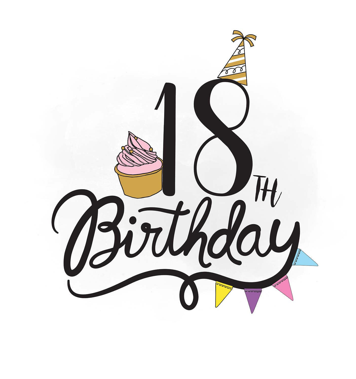 Elegant Geburtstag 18 Bilder Design