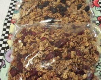 8 ounces Low Carb. Blueberry Almond Granola, 8 ouncesLow Carb. Cranberry Pecan. Sale-