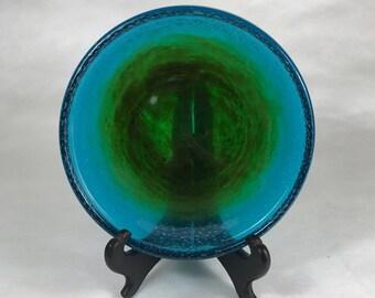 John Orwar Lake Ekenas Glasbruk Signed Glass Bowl / Dish