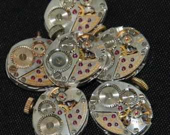 Vintage Antique Watch Movements Steampunk Altered Art RE 48