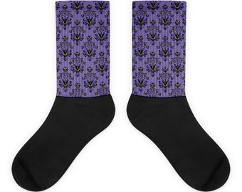 Haunted Mansion Wallpaper Socks