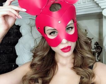 Mouse mask,carnival mask ,leather mask