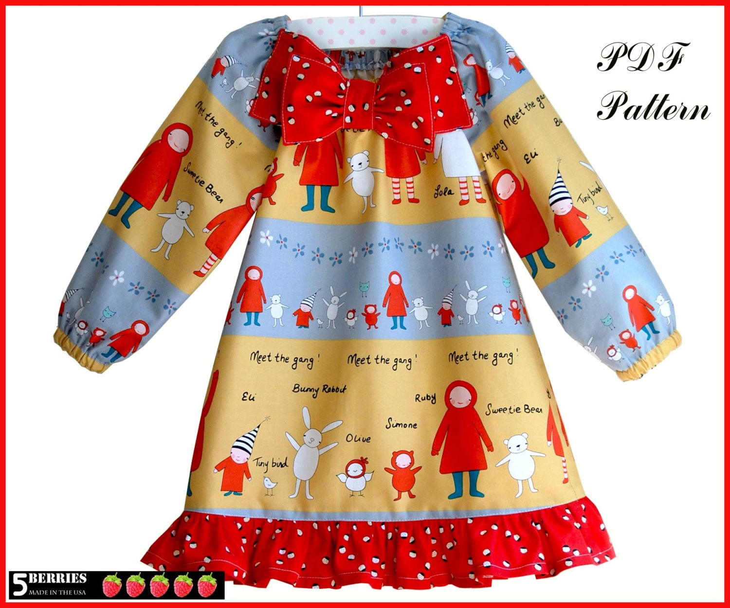 Amelia peasant dress pattern free mother daughter apron zoom jeuxipadfo Image collections