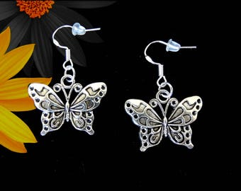 Mothers Day Gift For Mom. Mothers Day Earrings. Butterfly Earrings Silver. Gift For Women. Birthday Gift For Her. Gift For Friend Woman