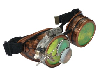 Steampunk Goggles Airship Captain Apocalyptic Mad Scientist Victorian Limited CC Lg