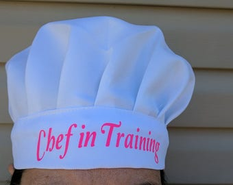 Chef In Training Grilling Cooking Kitchen Funny White Barbeque Gift Chef Hat #1