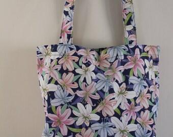 Lily Print Tote Bag