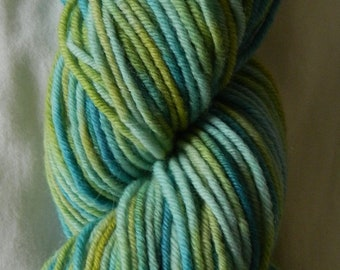 Hand dyed 8 ply / DK yarn 100g 100% wool in Kelp Forest colourway