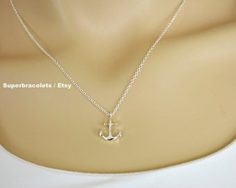 rose gold anchor necklace, anchor necklace, gold anchor necklace, silver anchor necklace, anchor necklaces, stiny anchor necklace, dainty