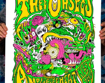 Thee Oh Sees Amplified Heat Nest Egg Signed & Numbered Screen Print Edition of 27