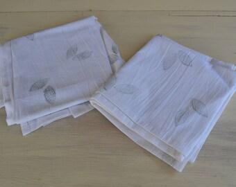 Leaf print tea towels set of 2