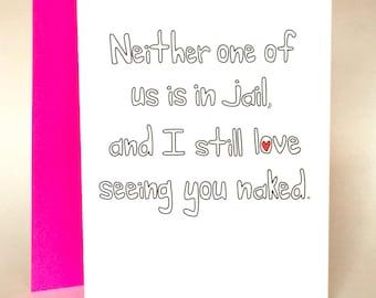 funny valentines day, sarcastic love, Love Card, Funny Greeting Card, Husband card, wife card, Greeting Card, Boyfriend Card, C-035