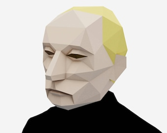 Putin Mask, Halloween Mask, President costume, Instant Pdf download, DIY Printable Paper Mask
