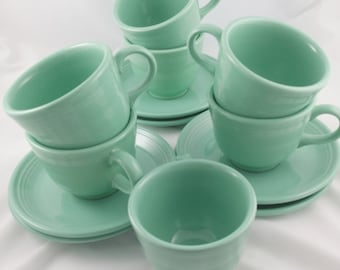 Homer Laughlin  Fiesta cup and saucer, Homer Laughlin,  Mist Green Fiesta, Sold Individually,  Six sets available