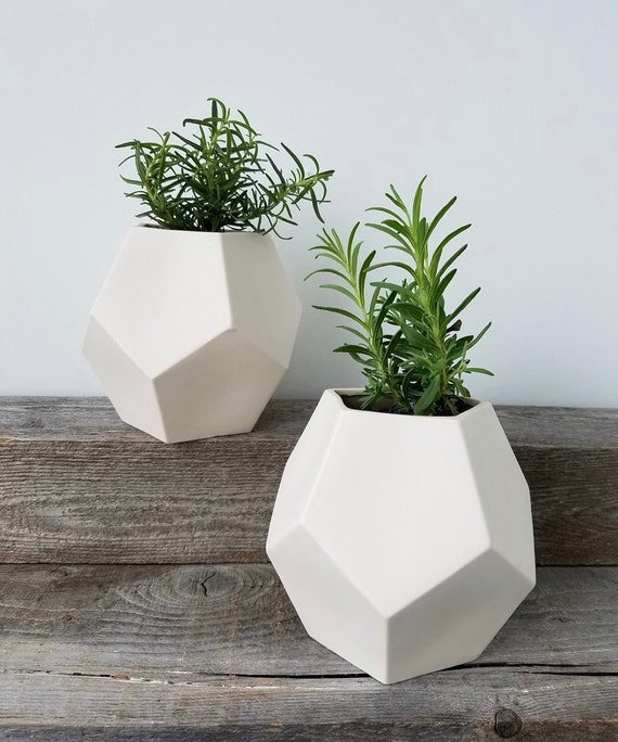 Porcelain Pentagon Planter