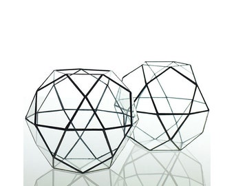 Geometric Glass Terrarium, Air Plant Terrarium, Succulent Planter, Rock Hexagonal Planter, Wedding Decor, Wedding Centerpiece, #Giftsforher