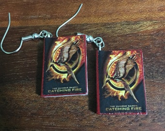 Hunger Games Inspired Book Earrings Catching Fire