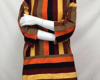 Bold Stripe Cotton Smock Top