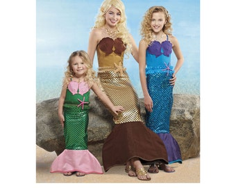 Simplicity Sewing Pattern 8198 Child's, Girls' and Misses' Mermaid Costumes