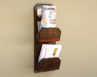 Rustic Mail Organizer | Wall Mail Holder | Letter Holder Organizer