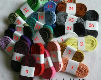 """6 yards of Bias double, 1/2"""", (16mm), various colors, polyester, cotton"""
