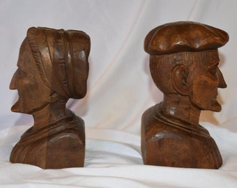 Beautifully Hand Carved European Older Couple