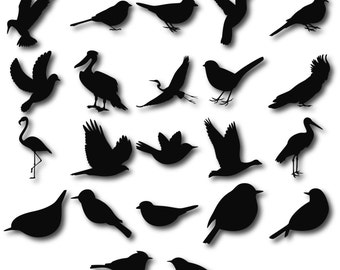 Birds Silhouettes, Birds clipart, Birds svg, Bird Silhouette Clip Art, Bird  Silhouette,  Digital Birds Clipart, Flying Birds