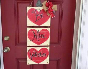 Sale, Valentine door hanger, Happy Valentine's Day, Valentine wreath, Heart door hanger