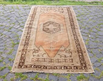 Turkish Rug    Oushak Rug Muted Color Rug  Cappadocia Rug Pink Rug Runner Rug Anatolian Rug Carpet  84 x 44  inches
