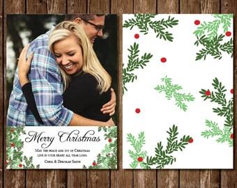 Classic Pine Christmas Photo Card