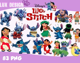 83 Lilo and Stitch ClipArt- PNG Images 300dpi Digital, Clip Art, Instant Download, Graphics transparent background