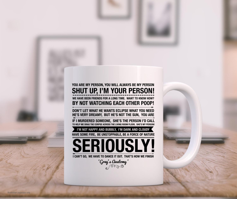 Grey\'s Anatomy Quotes White Mug High Quality Gift