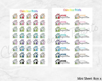 HOUSE & HOUSE INSPECTION Planner Stickers (2 options)