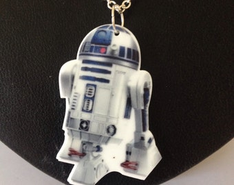 R2D2 Star Wars Pendant, android, R2-D2, Star Wars Necklace
