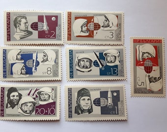Lot of 7 pcs Mix Space Postage Stamps,Bulgaria Postage Stamp,Bulgaria Space Post Stamp,Gagarin Postage Stamp