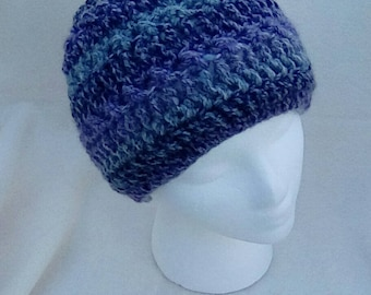 Messy bun hat - crochet