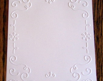 FILIGREE FRAME Embossed Card Stock Panels Perfect for Scrapbooking and Card Making - Set of 12