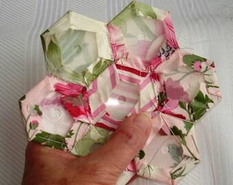 """Plastic Paper Piecing Hexagon Templates 1/2"""" 3/4"""" 1"""" 1 1/2"""" For Grandmother's Flower Garden Quilt"""