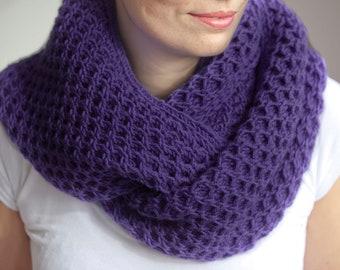 Purple Infinity Scarf Shawl